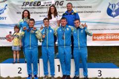 Девять медалей завоевали спортсмены-подводники Луганщины на Чемпионате Европы