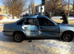 В Лисичанске скорая помощь попала в аварию