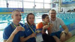 Дев'ять медалей привезли наші плавці з Чемпіонату України серед спортсменів з обмеженими фізичними можливостями