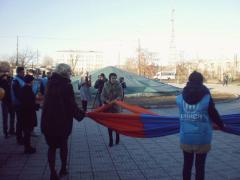 На Луганщині молодь об'єдналася, щоб сказати «ні» насильству