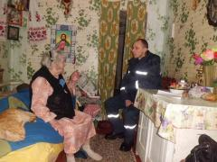 Рятувальники піклуються за пожежну безпеку домівок одиноких престарілих громадян
