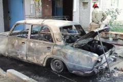 Крупный пожар в Лисичанске: сгорела машина с газовыми баллонами