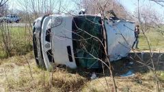 В Луганской области перевернулся автобус из-за ям на дорогах - 8 человек травмировано