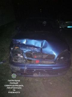 Северодончанин разбил припаркованный автомобиль и пытался скрыться, оставив свой номерной знак на месте ДТП