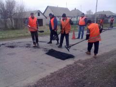 Проведення  робіт з аварійного ямкового ремонту на дорогах державного значення