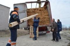 Представители церквей Веры Евангельской передали стройматериалы для восстановления Луганской области