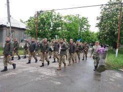 Групою ЦВС населеного пункту Станиця Луганська проведено урочистий марш з покладанням квітів до Могили невідомого солдата