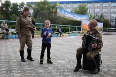 Луганщину напередодні 71-ї річниці Перемоги над нацизмом у Європі відвідали військовий оркестр і виставка ретротехніки