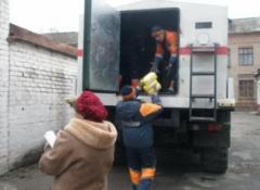 На Донбасс спасатели доставили 100 тонн гуманитарки