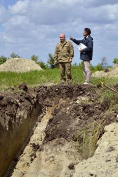 У Луганській області завершується зведення фортифікаційних споруд на лінії розмежування вогню