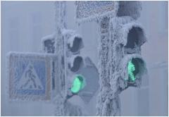 Шановні учасники дорожнього руху! Зважайте на сильні морози!