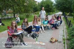 Юні Сєвєродонецькі художники вийшли малювати краєвиди міста