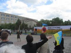 Северодонецк посетили участники автопробега, посвященного Дню Победы