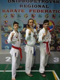 Карина Янчук завоювала дві медалі на Всеукраїнських першостях з карате
