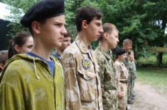 В Кременских лесах открылся патриотический лагерь для детворы из Рубежного и Северодонецка