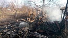 Пожар в Лисичанске уничтожил четыре хозпостройки