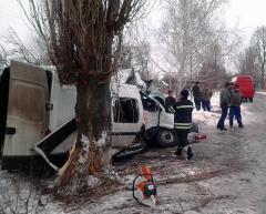 По пути из Станицы Луганской в Рубежное маршрутка врезалась в дерево