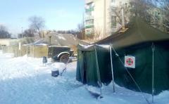 Сєвєродонецьк: пункт обігріву для вимушених переселенців працює цілодобово