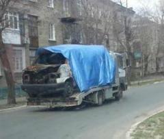 В Северодонецке расстреляли микроавтобус