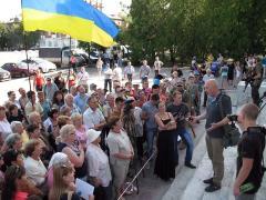 У Сєвєродонецьку пройшов мітинг з вимогами зберегти тролейбусне управління