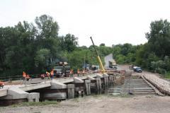 Славомір Новак перевірив ремонт Томашівського мосту через річку Сіверський Донець
