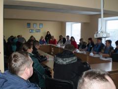 """Презентація послуг студії """"Бізне$тарт"""" відбулася у Лисичанському міському центрі зайнятості"""