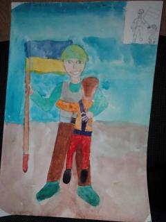 Дети поздравили рисунками воинов Вооруженных сил Украины