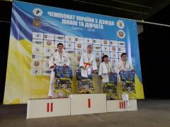 Результаты выступления наших спортсменов на Чемпионатах Украины по дзюдо