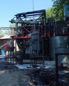В Рубежном загорелся технический реактор