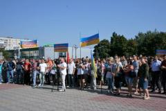 В Лисичанске шахтеры вышли на акцию протеста