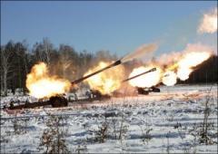 Под Луганском боевики устроили артиллерийское стрельбище