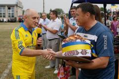 У Попасній відбувся дружній матч між ветеранами футболу міста та ветеранами збірної України