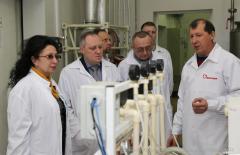 Пушко-Цибуляк у Рубіжному ознайомилася із виробництвом медикаментів для лікування серцево-судинних захворювань