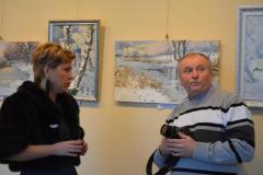 В Северодонецкой галерее искусств открылась персональная выставка Беловодского художника Василия Кувичко