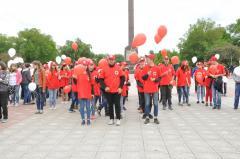 В Северодонецке в честь Красного Креста устроили флешмоб